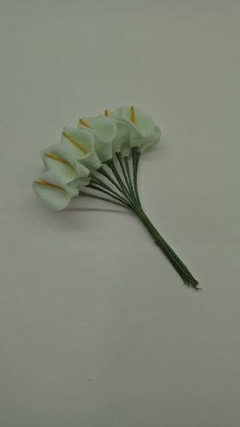 Calla Lily (Foam Fillers) 12 Fillers of Packet Pastel Green in color