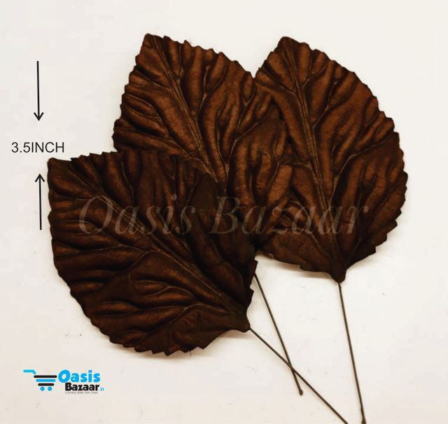 Handmade Mulberry leaves pack of 10 Embossed Leaves 01