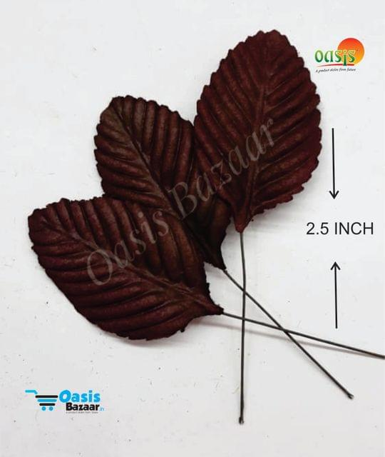 Handmade Mulberry leaves pack of 50 Embossed Leaves 12