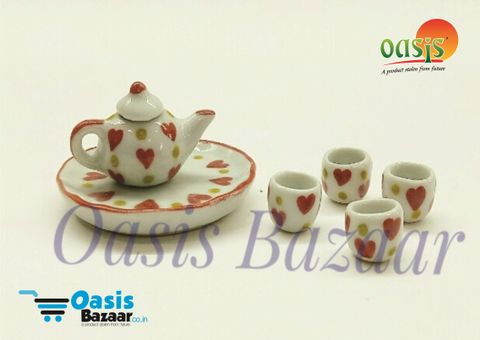 Ceramic Miniature Accessories pack Tea Set. 06