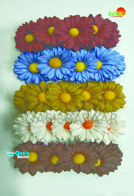 Daisy Sun Flowers Mix in Color Pack of 25 Flowers.