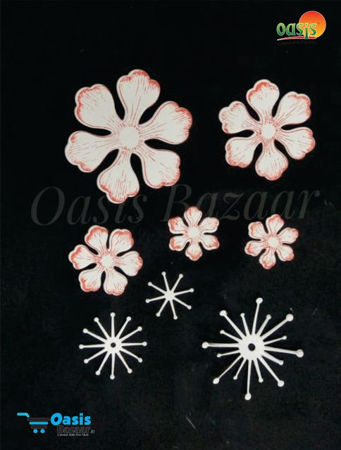 Paper Die Cut Ariana Blooms with Stamps Die Cut 50pcs in Pack.