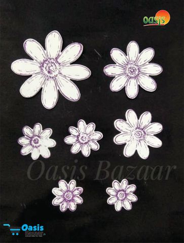 Paper Die Cut Delight Full Daisy With Stamps 50pcs in Pack.
