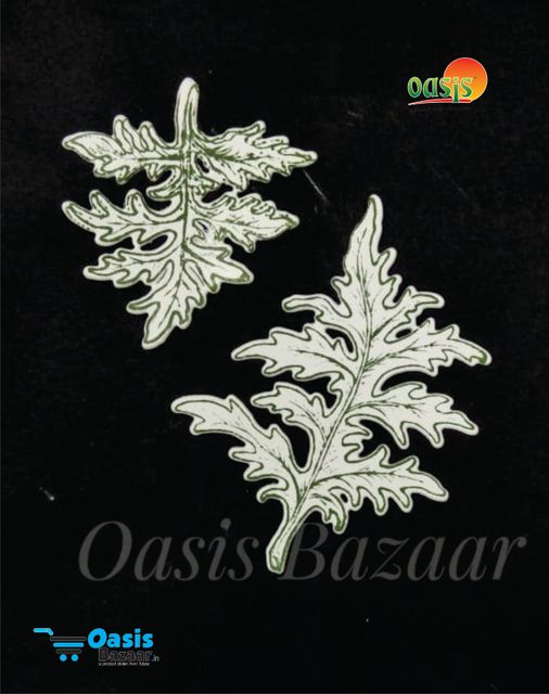 Paper Die Cut Daisy Leaves With Stamp 10pcs in Pack.