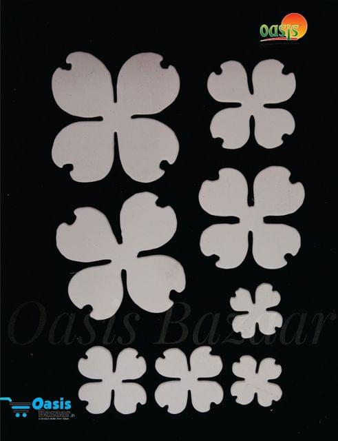 Paper Die Cut Flowering Dogwood Plain 50pcs in Pack.