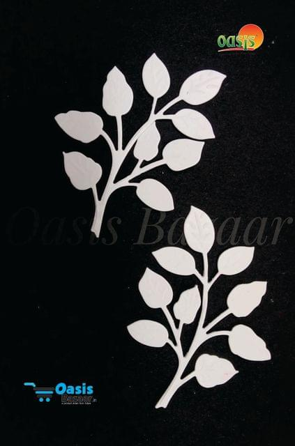 Paper Die Cut Olive Branches Leaves Plain 50pcs in Pack.