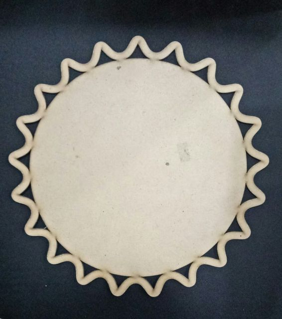 WE Diya Plate Carved Border 6 X 6 in size