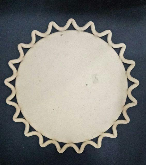 WE Diya Plate Carved Border 12 X 12 in size