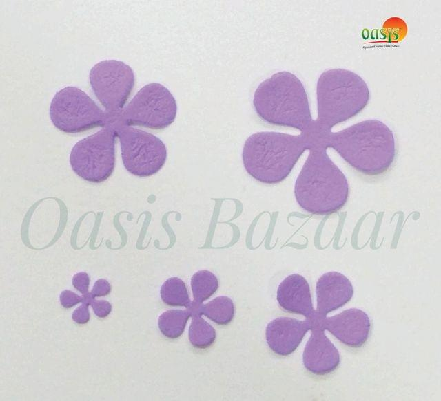 Foamerian Flower shape cutouts pack of 100. 01