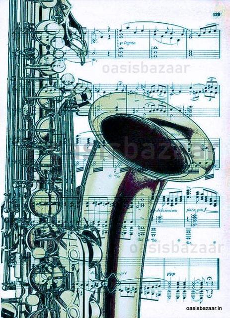 Decoupage Design Musical Instuments 02