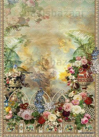 Decoupage Design Abstract Floral 16