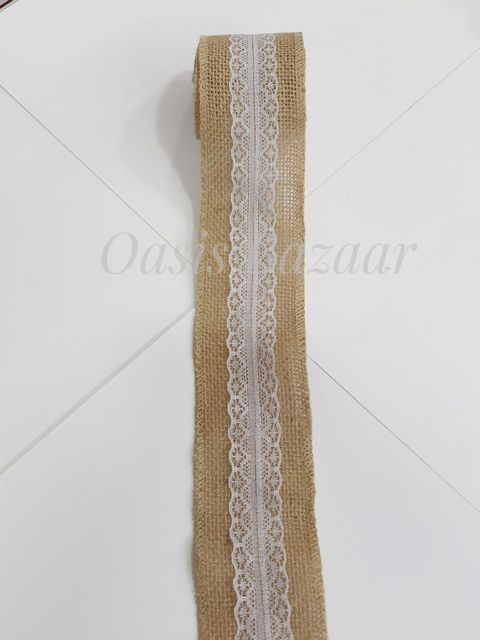 Oasis Jute Ribbon with Border- 02