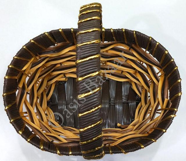 Gift Basket brown colour  small -01