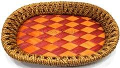 Gift Baskets Trays brown & red small -26