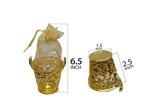 Mini Bucket for Gift Gold -01