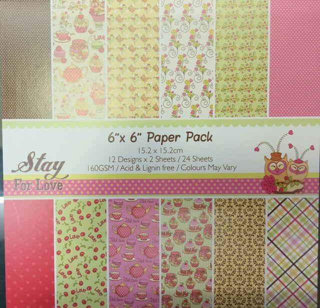 "Paper Pack 6""X6"""