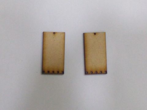MDF Jewellery  Bases-RECTANGLE  EARRING 20