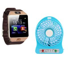 Callmate Bluetooth S2 Smart Watch With Free Mini Fan Power Bank 2600 mAH - Assorted Color