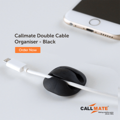 Callmate Double Cable Organiser - Black