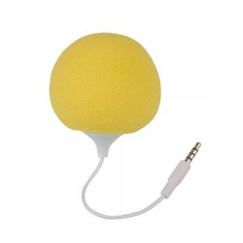 Callmate Audio Dock Bubble Shape Wired Mobile/Tablet/Laptop Rainbow Speaker-Yellow
