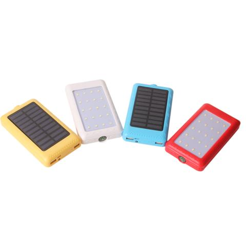 Callmate Solor LED With Compass YM060 Dual USB Portable Power Bank 13000 mAh - Assorted Color