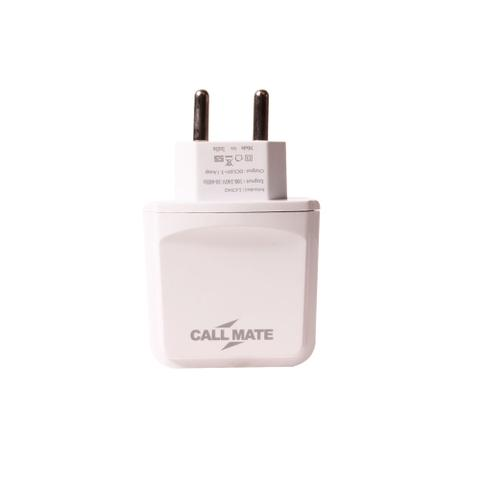 Callmate 3 USB 3.1Amp Fast Charger - White