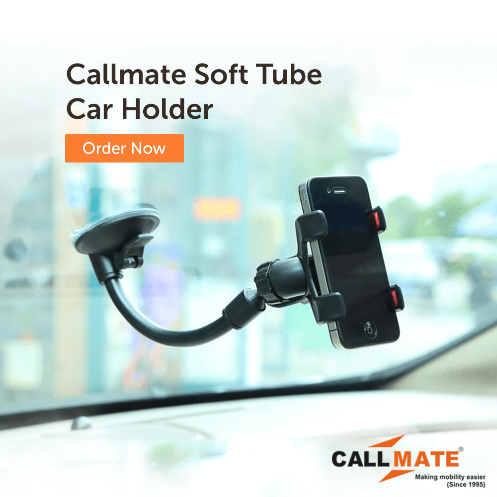 Callmate Soft Tube Car Holder With usb Charger With 1m Micro Cable - Assorted Color