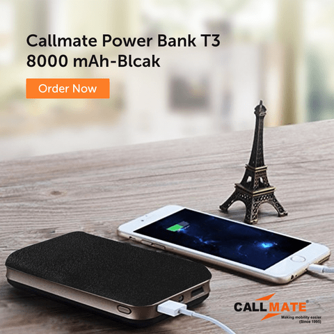 Callmate Power Bank T3 8000 mAh-Blcak