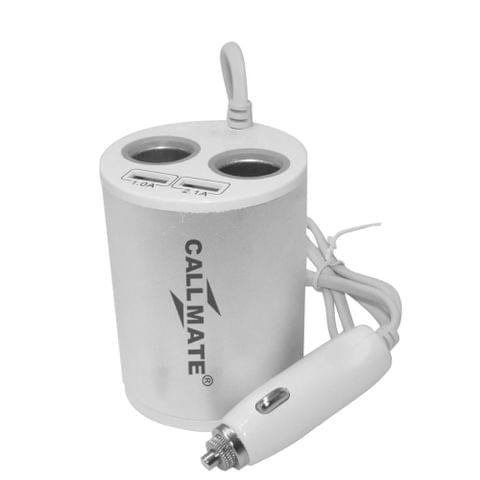Callmate Energy Cup Multifunction Car Charger - Silver