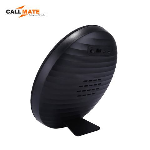 Callmate HDY-001 Portable Round  Shaped  Fabric  Design  Bluetooth  Stereo Speaker with Built-In MIC, Support - White