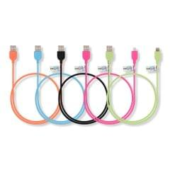 Callmate SZN01 Rubberized 2.1 Amp Lightning Usb Data Charging Cable Set of 5