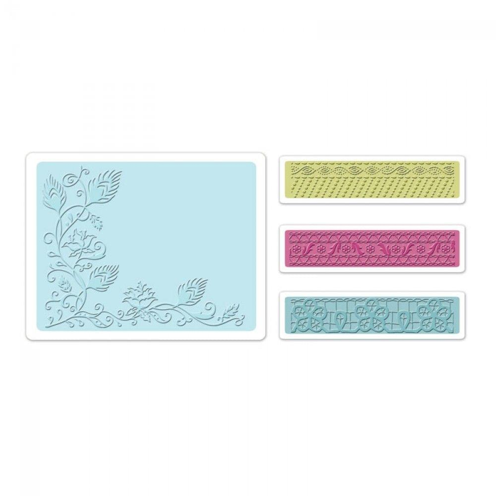 Sizzix Embossing Folder - Peacock Vine set 4PK - 657819