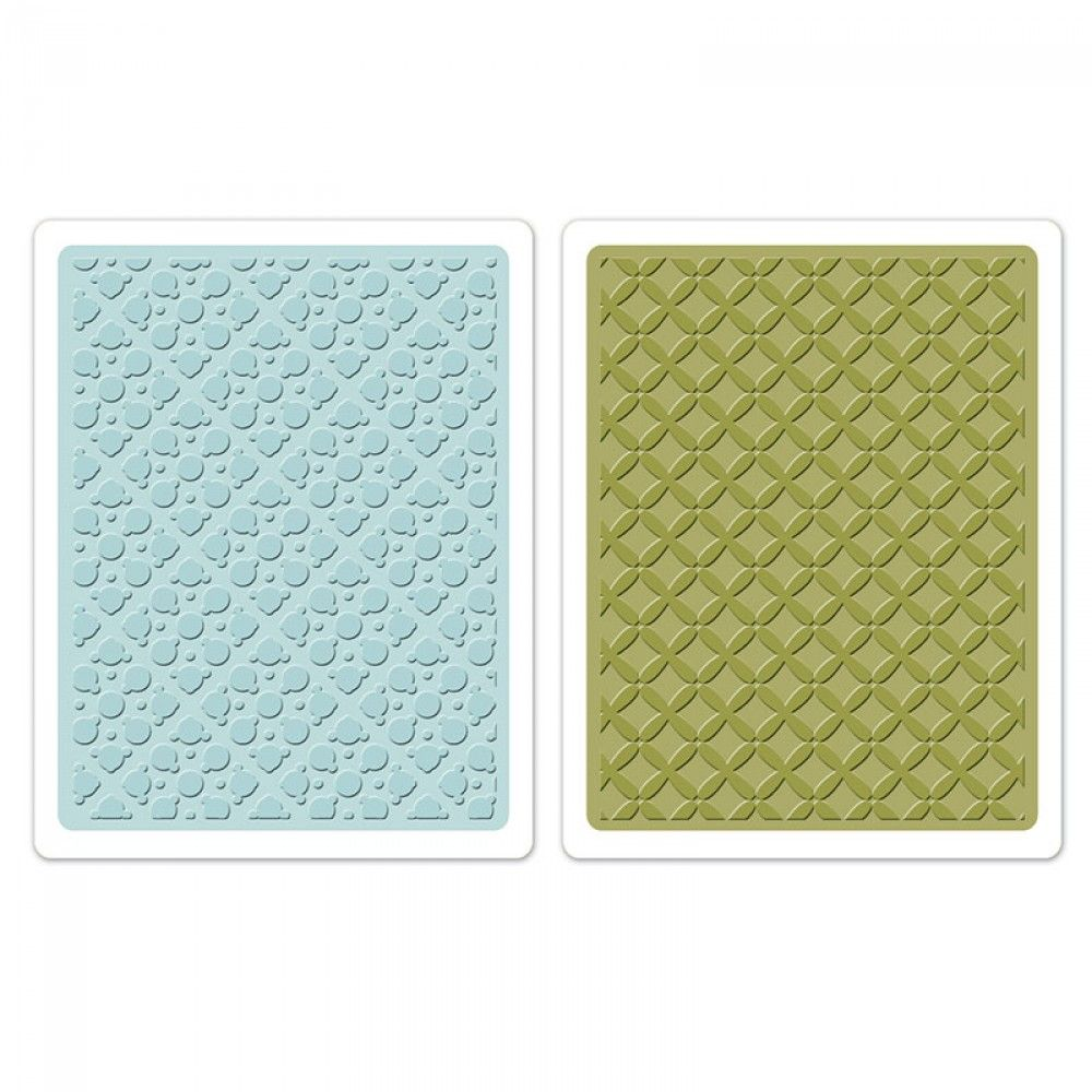 Sizzix Embossing Folders 2PK - Dotted Squares Set -658705