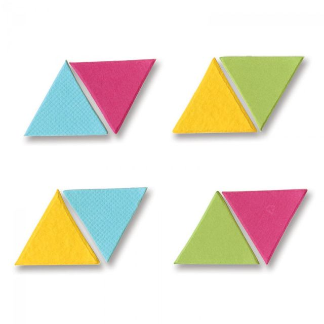 "Sizzix Bigz Die - Pattern Block Multiples 1"" Sides, Triangle 8-Up - A10365"