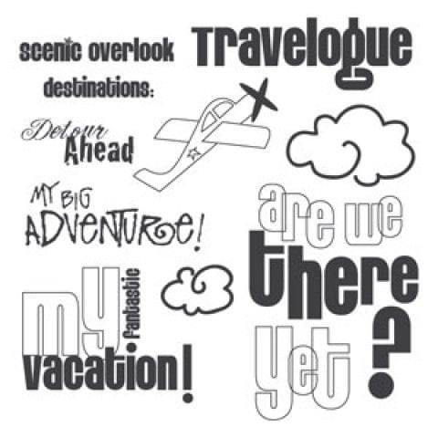 Sizzix Clear Stamps - My Fantastic Vacation - 656201