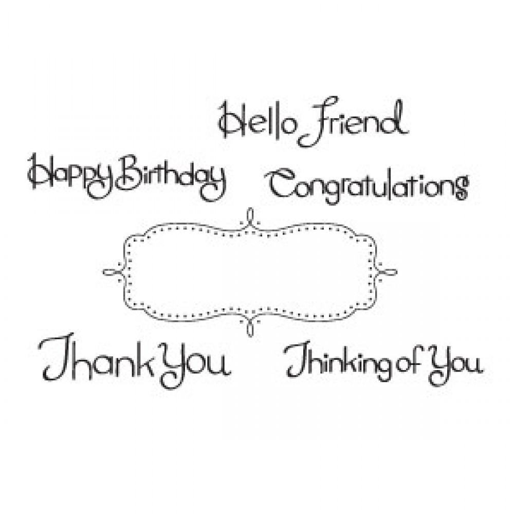 Sizzix Clear Stamps - Phrases, Card Sentiments Item - 656466