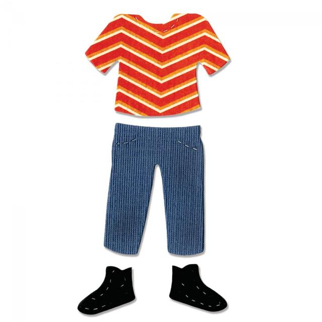 Sizzix Bigz Die - Boy or Girl Figure, Shirt, Pants & Shoes - A10632