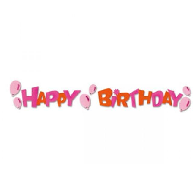 Sizzix Sizzlits Decorative Strip Die - Phrase, Happy Birthday Item - 655131