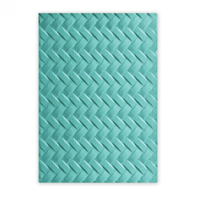 Sizzix 3-D Textured Impressions Embossing Folder - Woven - 661261