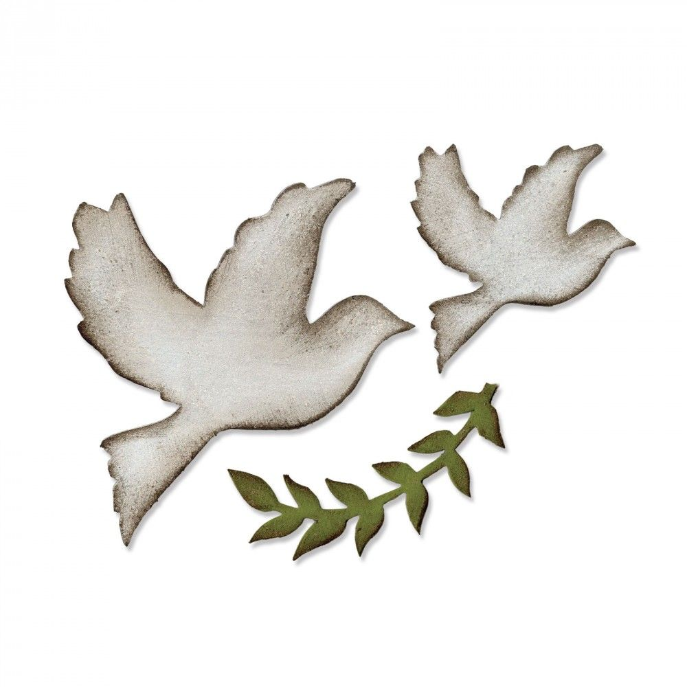 Sizzix Bigz Die - Enchanted Doves - 661607