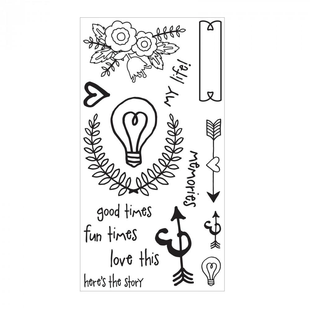 Sizzix Clear Stamps - Memories - 661403