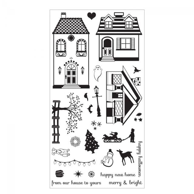 Sizzix Clear Stamps - Happy Home Item - 660655