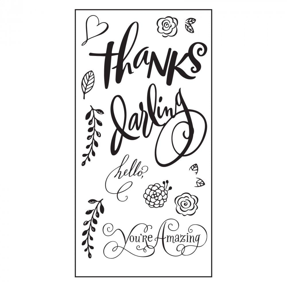 Sizzix Clear Stamps - Hello Darling Item - 661091
