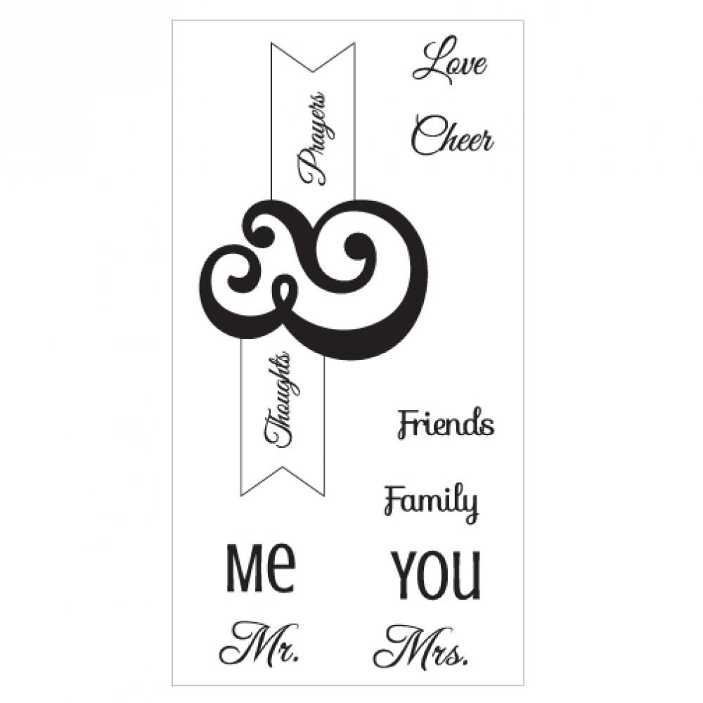 Sizzix Interchangeable Clear Stamps - Me & You - 660642
