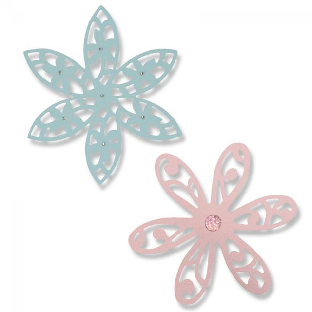 Sizzix Thinlits Die Set 2PK - Intricate Delightful Daisy - 661042