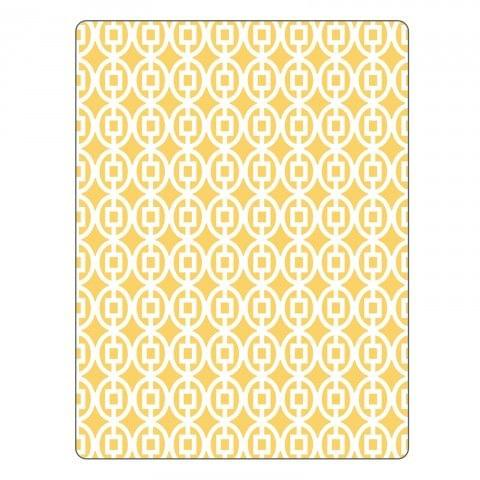 Sizzix Textured Impressions Embossing Folder - Squares in Ovals  - 661360