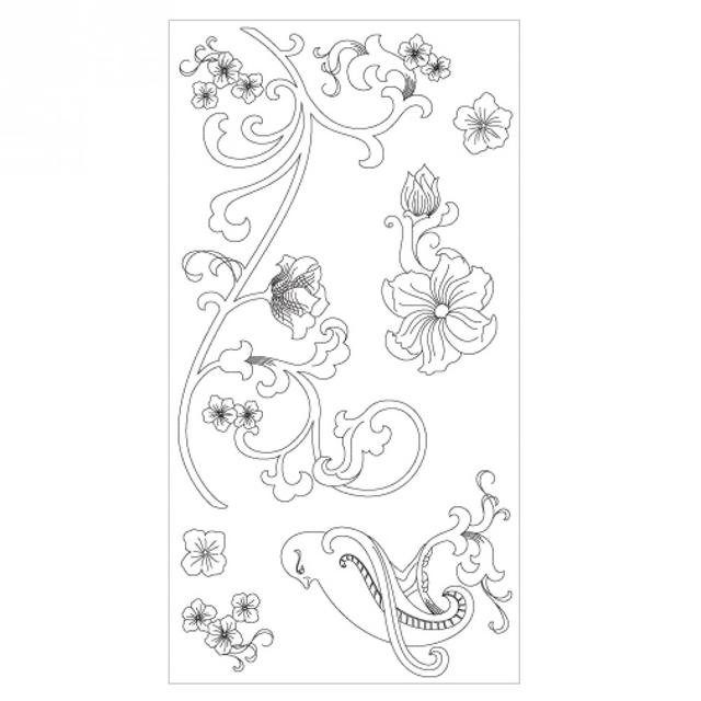 Sizzix Clear Stamps - Bird & Vines - 660632