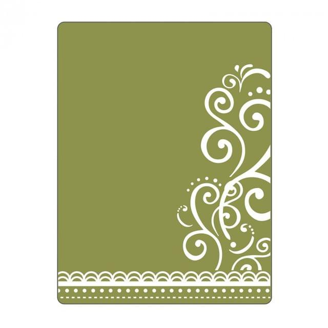 Sizzix Textured Impressions Embossing Folder - Flourish & Lace- 661355