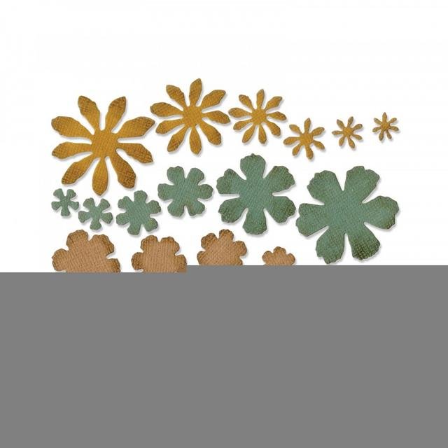Sizzix Thinlits Die Set 21PK - Small Tattered Florals- 661806