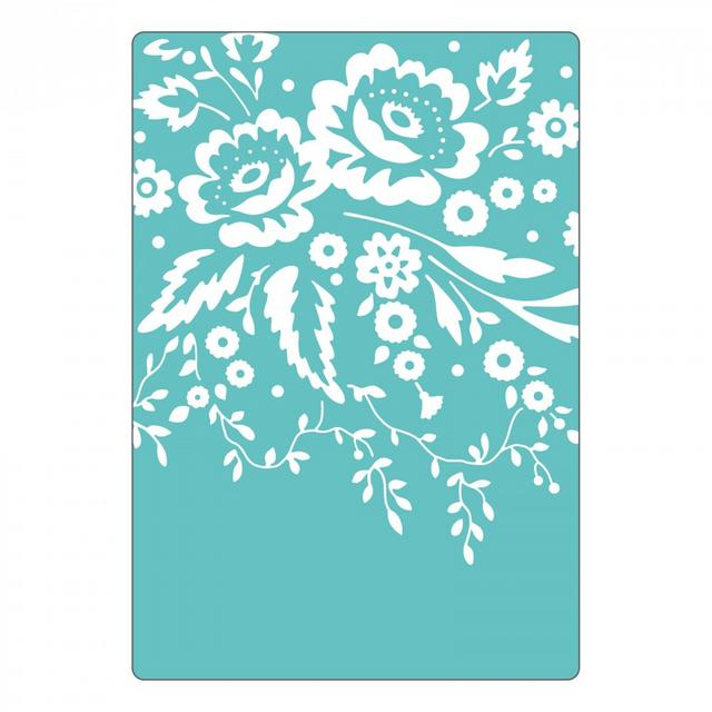Sizzix Textured Impressions Embossing Folder - Floral Tapestry- 661428